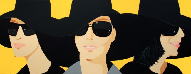 Alex Katz, Black hats (2012)